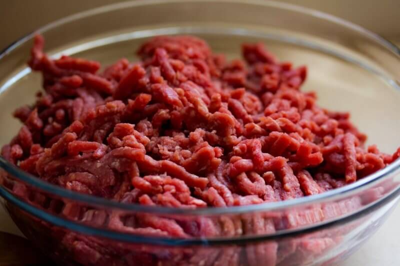 grinded meat