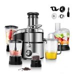 COSTWAY Electric 5-in-1 Professional Food Processer and Juicer Combo