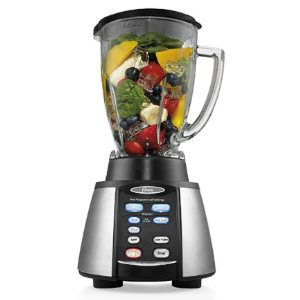 Oster Reverse Crush Counterforms Blender, with 6-Cup Glass Jar