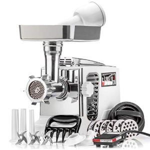 STX Turboforce II Platinum Foot Pedal Heavy Duty Electric Meat Grinder